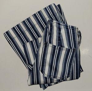 Free People Denim Striped Flare Jeans Size 24